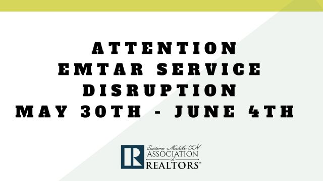 EMTAR Service Disruption MAY 30th- JUNE 4th