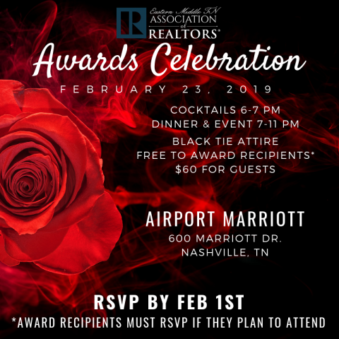 February 1st – Deadline to RSVP for Awards Banquet